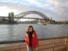 Alice vor der Harbour Bridge